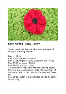 Knitted Poppy Pattern | Everything you need for knitting ...
